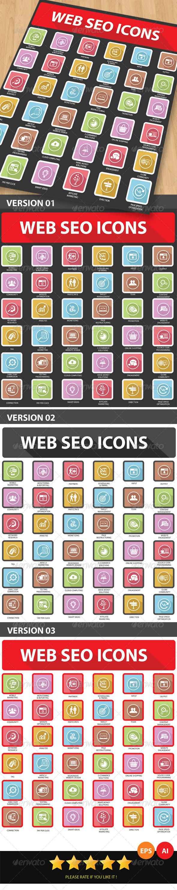 GraphicRiver Web SEO Icons 6365079