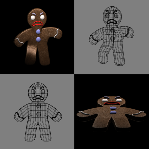 3DOcean Gingerbread Man 6345981