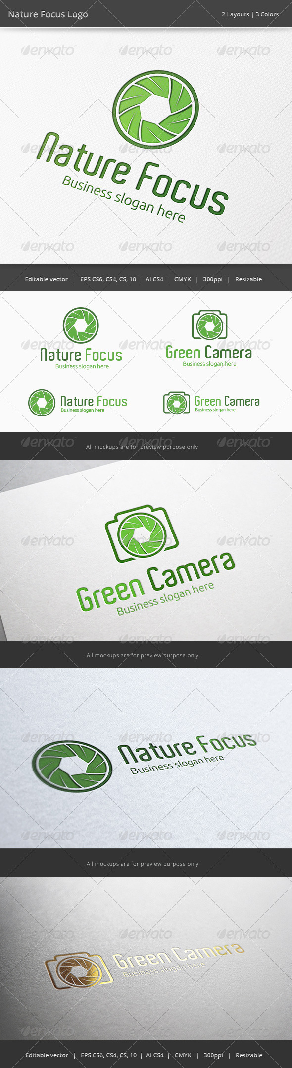 GraphicRiver Nature Focus Photography Logo 6365301