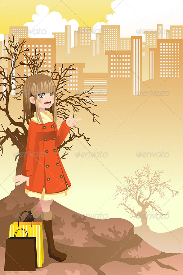 GraphicRiver Shopping Girl 6365418