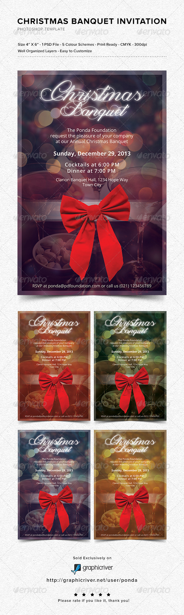 GraphicRiver Christmas Banquet Invitation 6365578