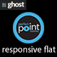 Responsive flat - Metro style ghost theme - ThemeForest Item for Sale