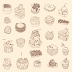 Set of Cake. Outline Illustration - GraphicRiver Item for Sale