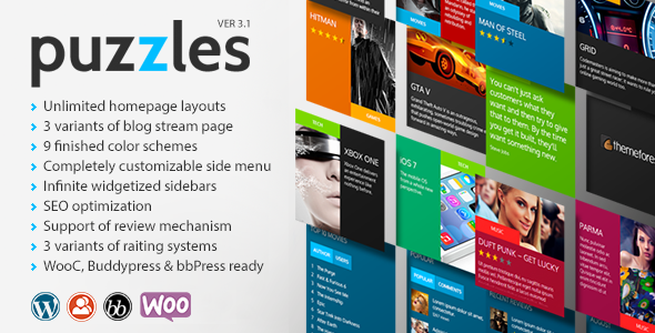 Puzzles | WordPress Magazine/Review with WooC - Blog / Magazine WordPress