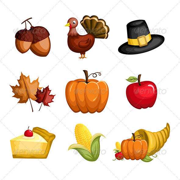 GraphicRiver Thanksgiving Icons 6365741