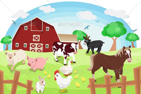 GraphicRiver Farm Animals 6365755