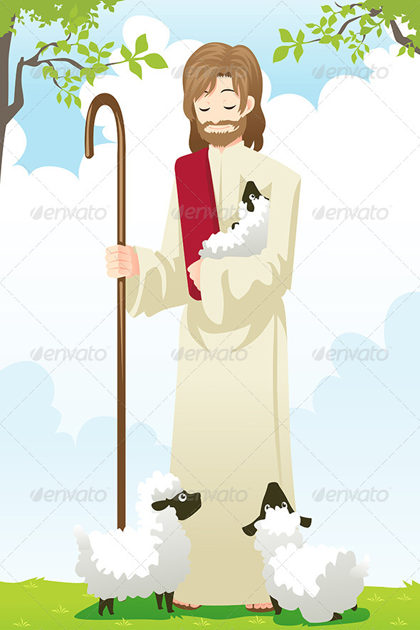 GraphicRiver Jesus the Shepherd 6365781