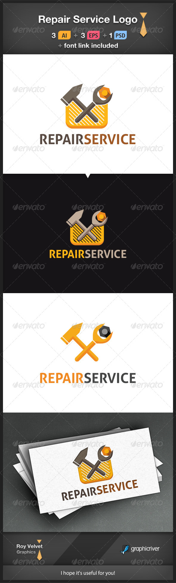 GraphicRiver Repair Service Logo 6366324