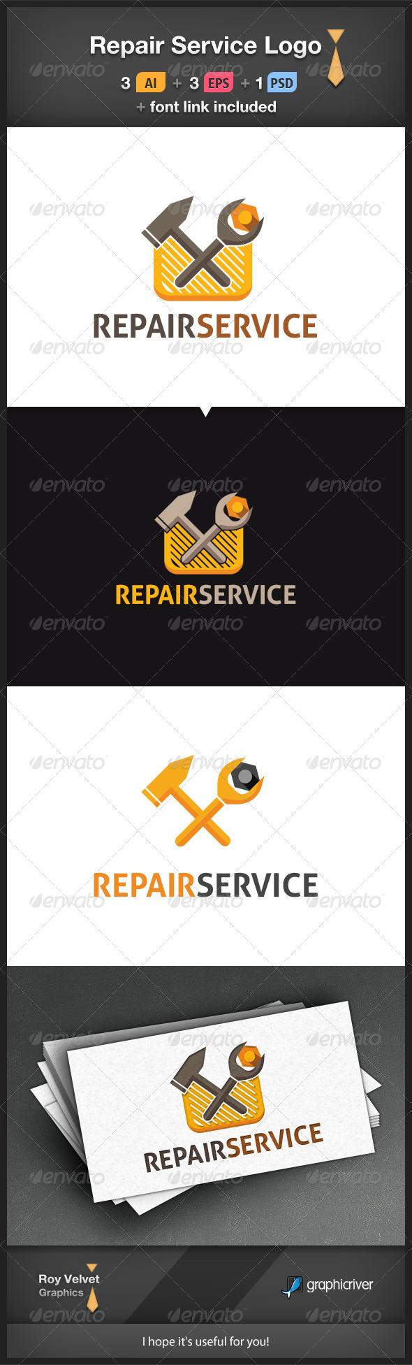 GraphicRiver Repair Service Logo 6366324