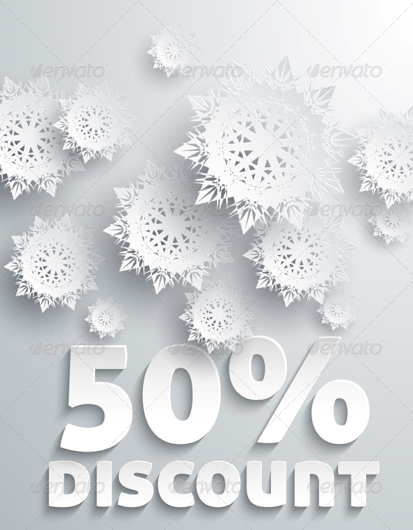 GraphicRiver Discount Percent with Snowflake 6366604