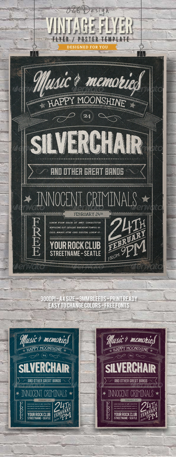 GraphicRiver Vintage Typography Poster Flyer V 6366816