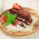 Delicious chocolate cake sprinkled with cocoa powder - PhotoDune Item for Sale