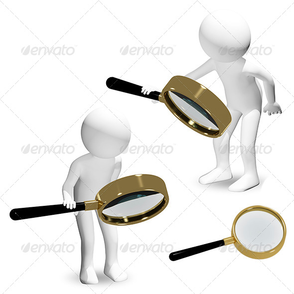 GraphicRiver man with a magnifier 6367091