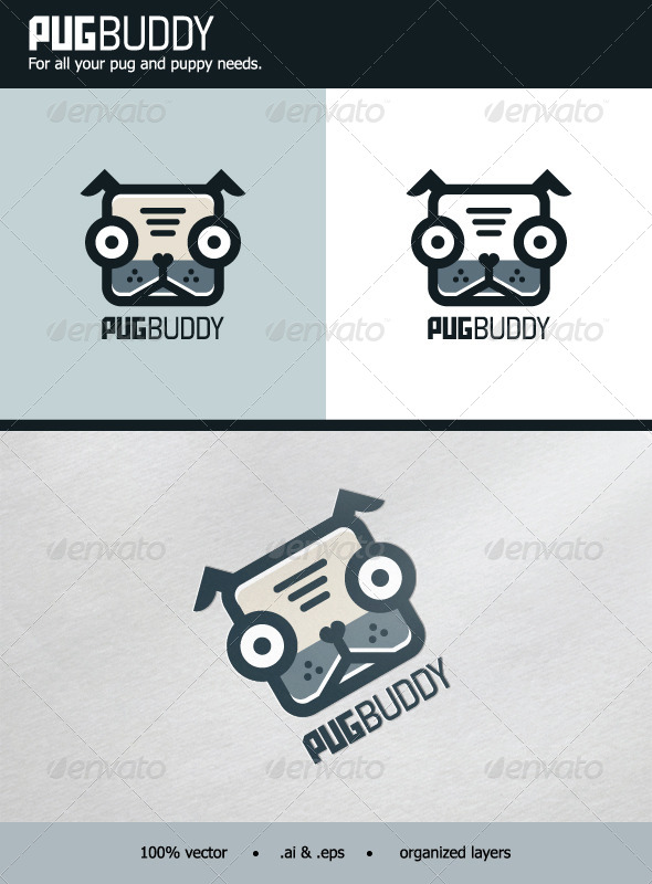 GraphicRiver PugBuddy Logo 6367292