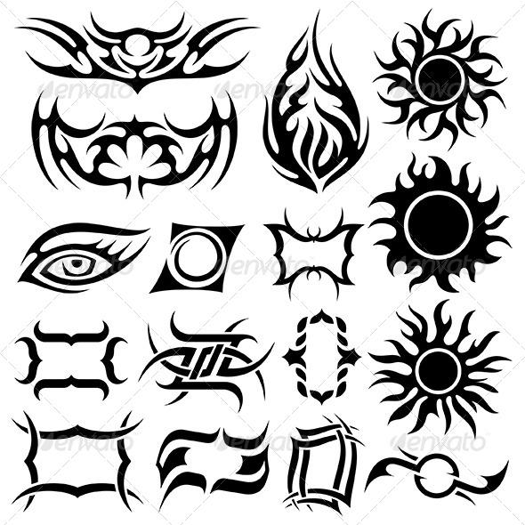 GraphicRiver Tattoo Set 6367487