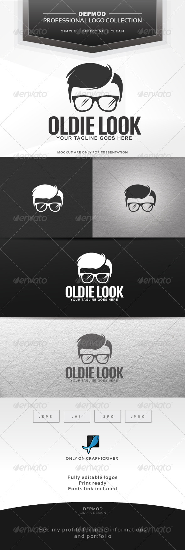 GraphicRiver Oldie Look Logo 6367641