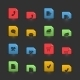 Online Shopping Iconset on Moving Stubs - GraphicRiver Item for Sale