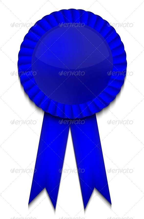 GraphicRiver Vector Blue Ribbon on White Background 6368306