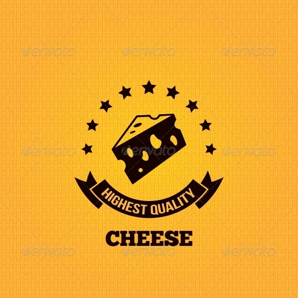 GraphicRiver Cheese Vintage Label Design Background 6368382