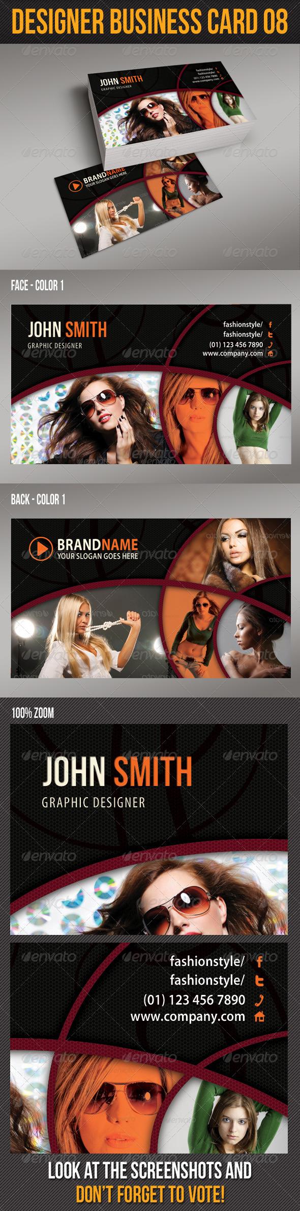 GraphicRiver Designer Business Card 08 6368562