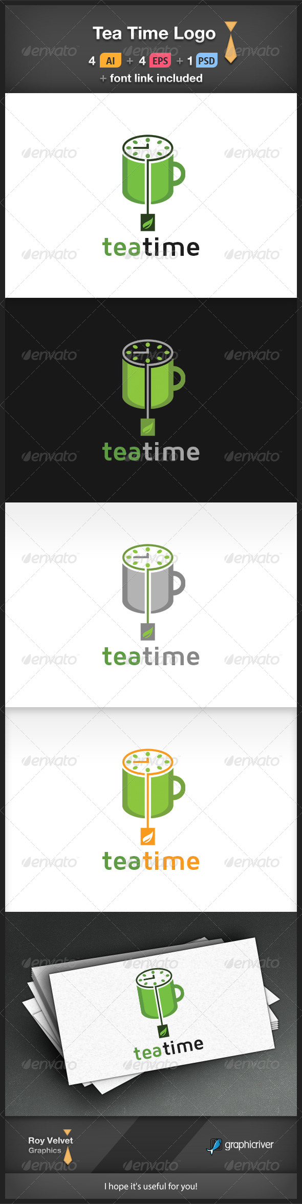 GraphicRiver Tea Time Logo 6369121