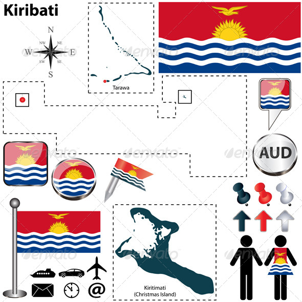 GraphicRiver Map of Kiribati 6369311