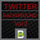 Dark Typo Twitter Background - GraphicRiver Item for Sale