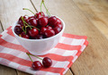 Ceramic Bowl of organic Cherries - PhotoDune Item for Sale