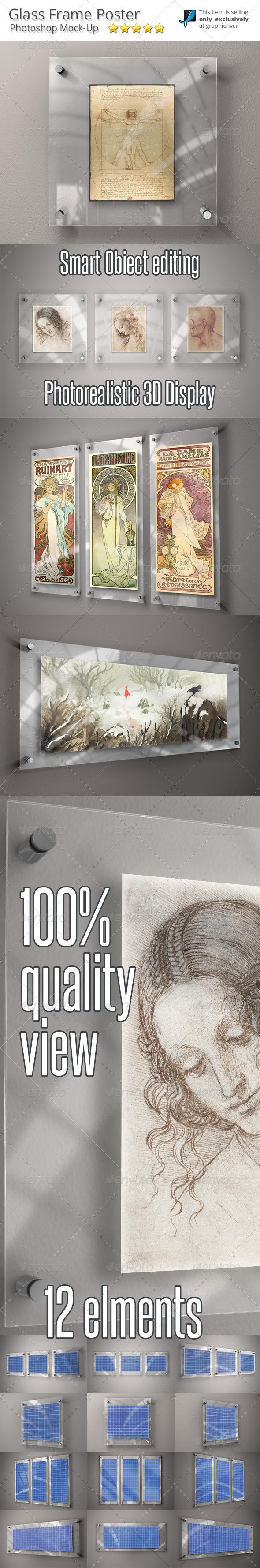 GraphicRiver Glass Frame for Art Mock-Up 6369635