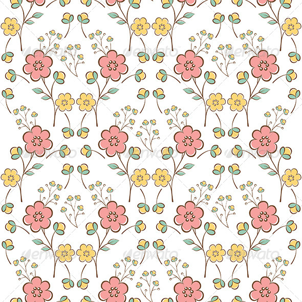 GraphicRiver Floral Seamless Pattern 6369636