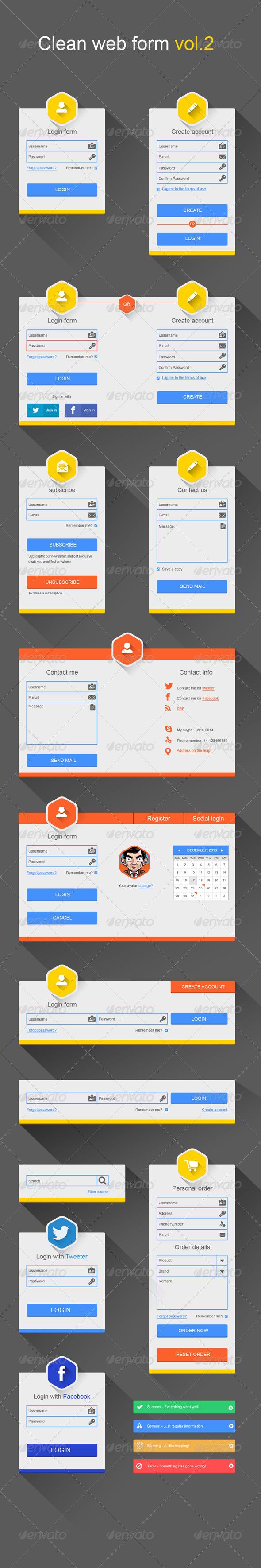 GraphicRiver Clean Web Forms Vol.2 6369740