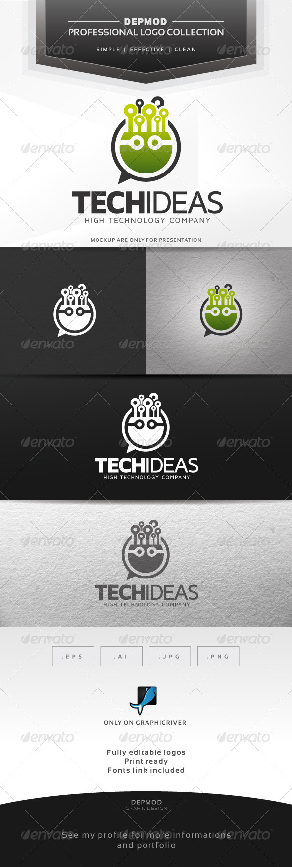 GraphicRiver Tech Ideas Logo 6369773