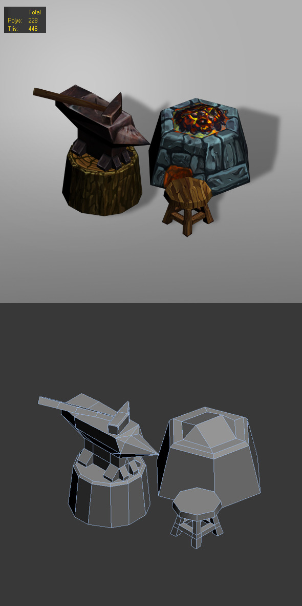 3DOcean smithy low poly 6370031