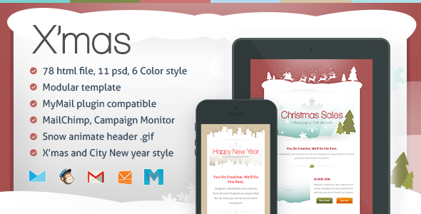 ThemeForest X mas Responsive Email Template 6370286