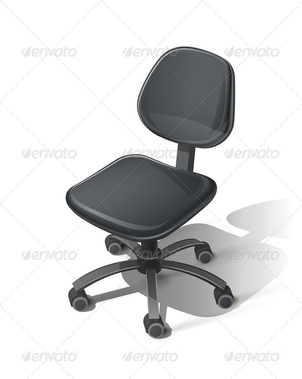 GraphicRiver Black Office Chair 6370406