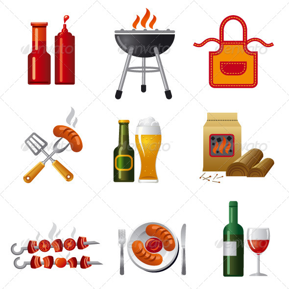 GraphicRiver Barbecue Icon Set 6370509