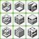 Abstract Cube Shape Icons Set 3 - GraphicRiver Item for Sale
