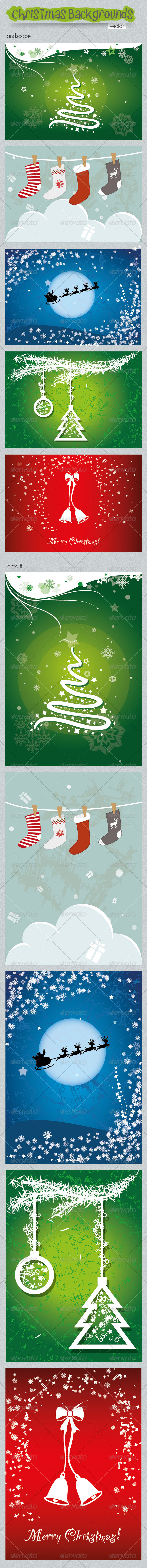 GraphicRiver Vector Christmas Backgrounds 6371070