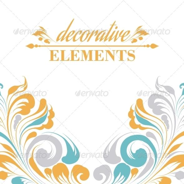 GraphicRiver Vintage Floral Elements 6372015
