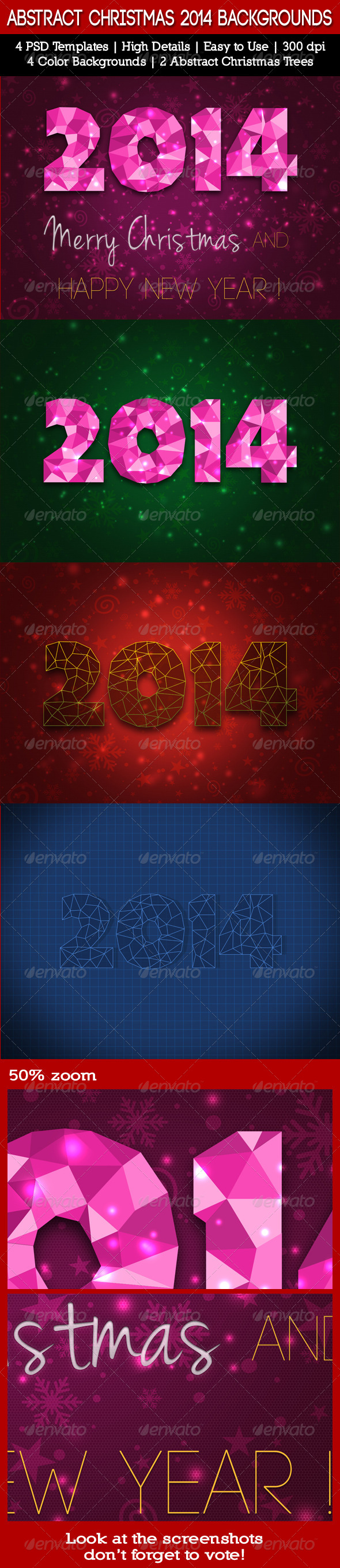 GraphicRiver Abstract Christmas 2014 Backgrounds 6372090