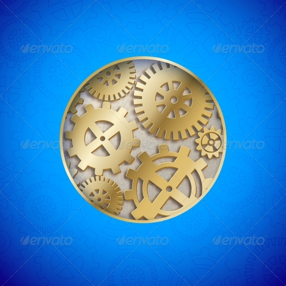 GraphicRiver Abstract Gear Wheels 6372092