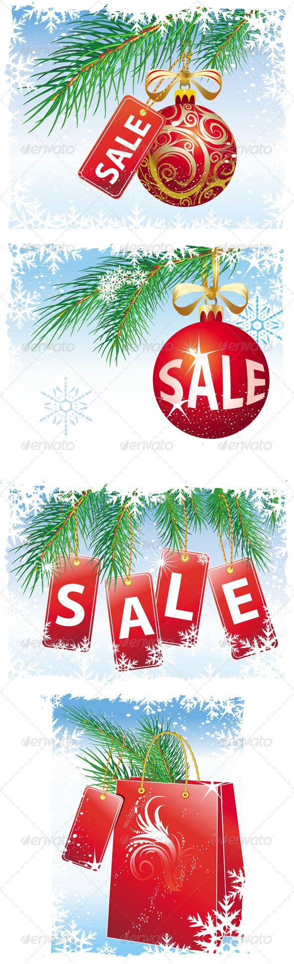 GraphicRiver Christmas Sale Set 6372133