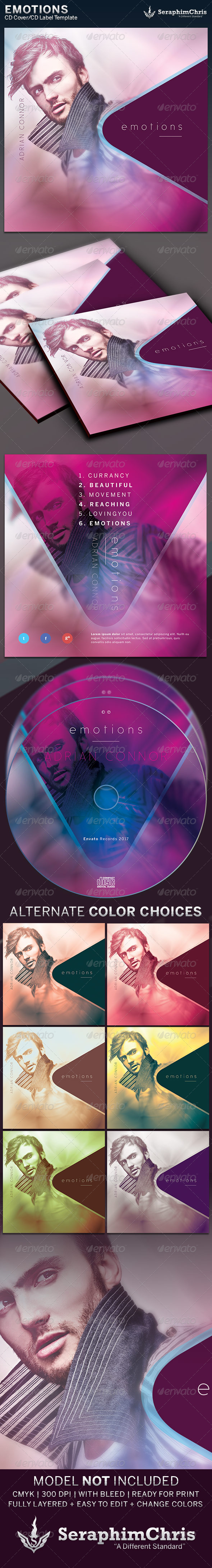 GraphicRiver Emotions CD Cover Artwork Template 6372151