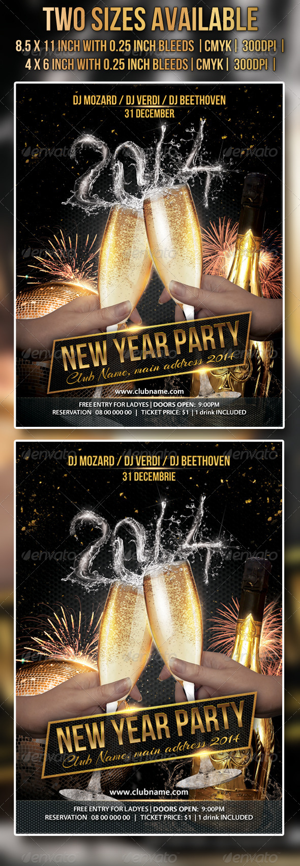 GraphicRiver New Year Party Flyer 6372634