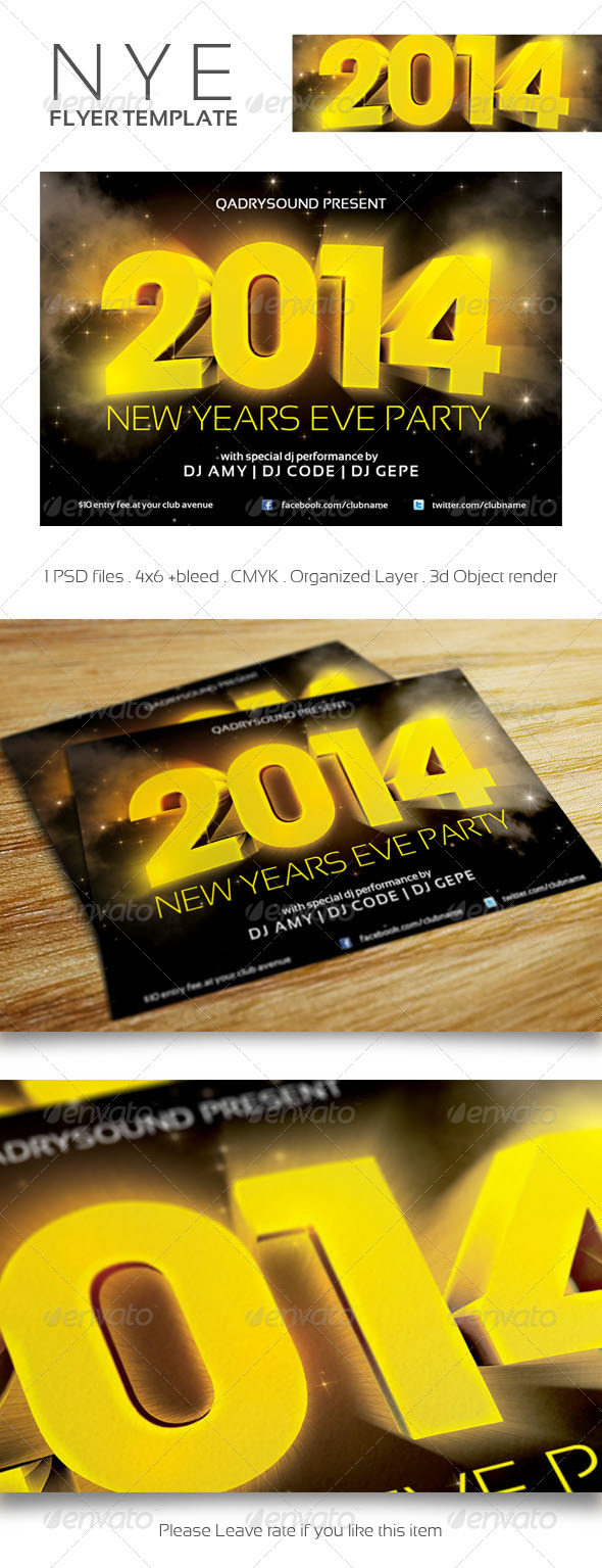 GraphicRiver NYE Flyer Template 6372822
