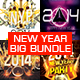 4in1 Elegant & Creative New Year flyers Bundle - GraphicRiver Item for Sale
