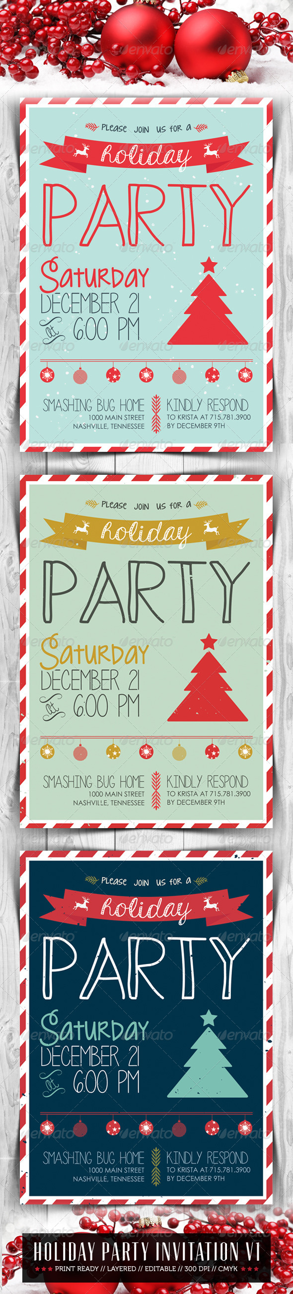 GraphicRiver Holiday Party Invitation V1 6372902