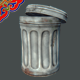 Trash can (Lowploy version) - 3DOcean Item for Sale