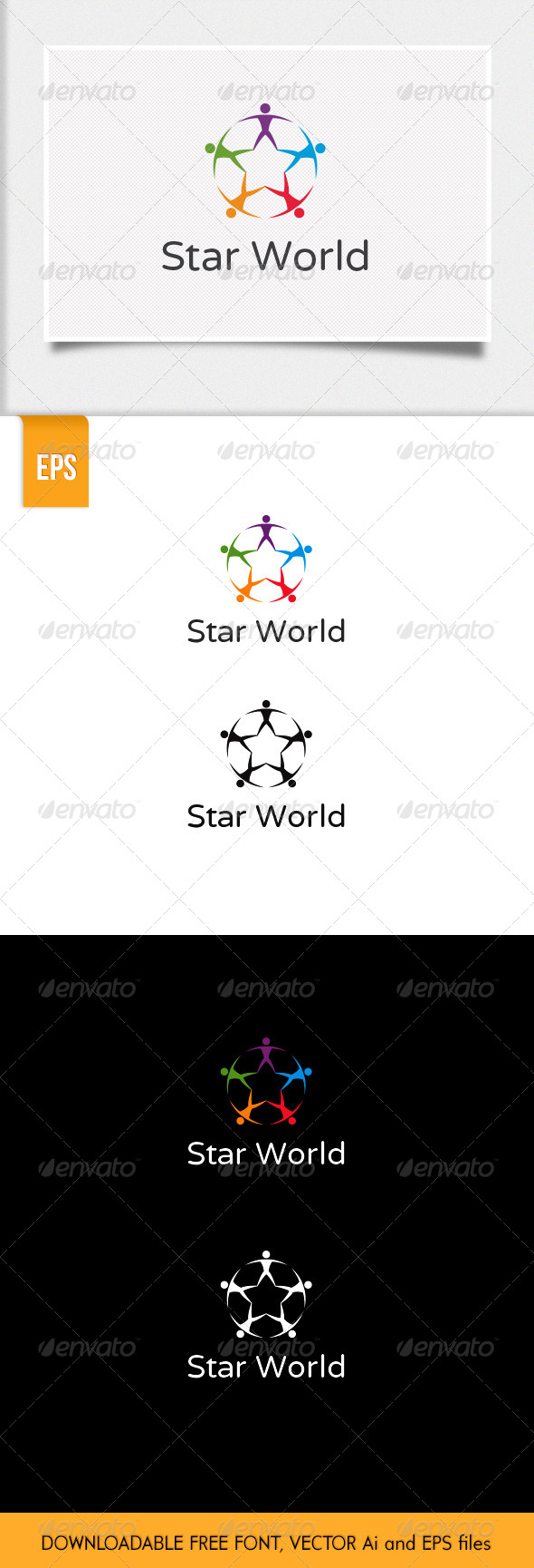 GraphicRiver Star World Logo 6373216