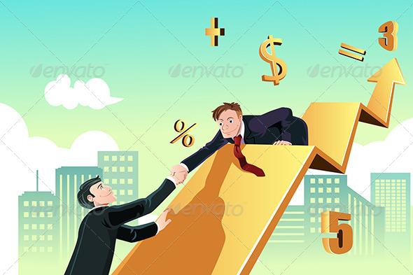 GraphicRiver Businessman Helping 6374326